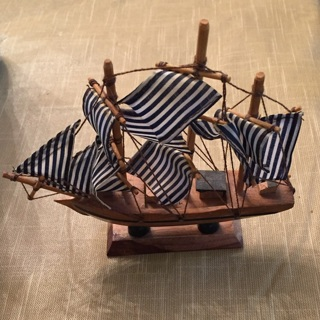 Antique ship for in bottle