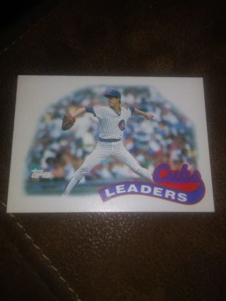 1989 Topps Cubs Leaders card # 549 Greg Maddux