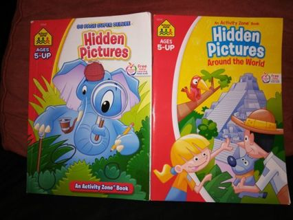 HIDDEN PICTURES BOOKS (2)+free shipping