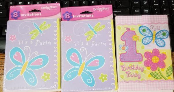 3 packs of Birthday Party Invitations