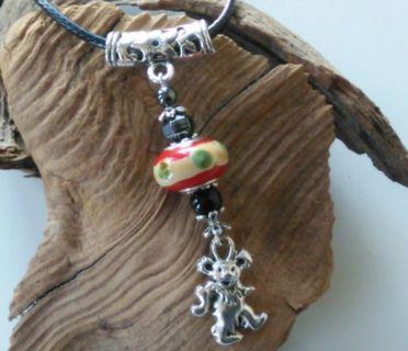 Handmade Grateful Dead Necklace Designer Pendant SEE Details for FREE S&H (GIN)