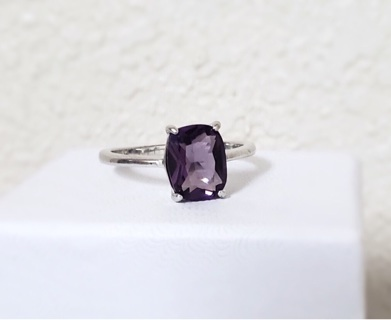 Beautiful Deep Amethyst Ring New Size 7