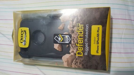 Defender Series Otterbox w/Clip for iPhone 6+/6s+ *All Black Brand new in package