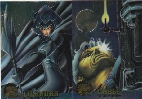Ultra X-Men Chromium 1995 ~ Two Card Chrome Lot ! CABLE, LILANDRA