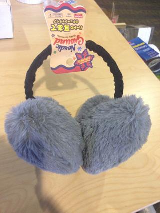 BRAND NEW: super fluffy heart earmuffs