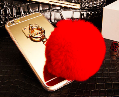 Red Fur Ball Acrylic Mirror Surface Phone Case Cover For iPhone 5 5s 6 6S Plus ($7.99 Shipping)