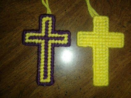 1 Purple & Yellow Cross 1 Solid Yellow Cross
