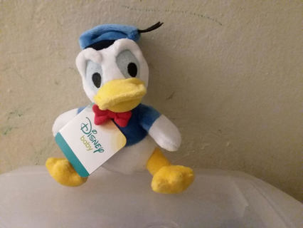 NEW Disney Donald Duck stuffed animal/rattle baby toy