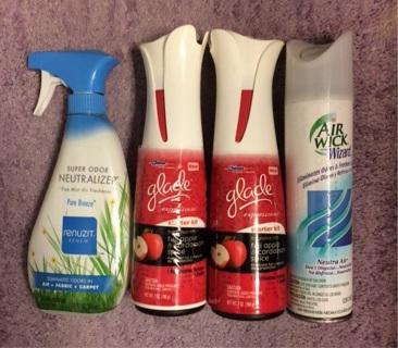 4 Air Fresheners. Glade, Renuzit & Air Wick