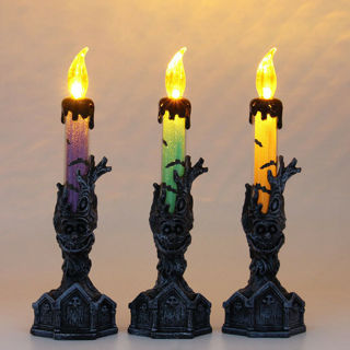 Halloween Skull Skeletal Hand Stand LED Candle Light Party Lamp Decor