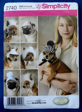 Free: SIMPLICITY PATTERN 2740 Dog Hat Cap Visor In 3 Sizes BY ...