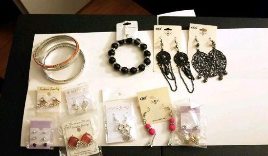 17 earrings 2 bracelet 2 necklace set leaf