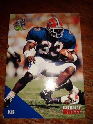 Football Trading Card ( Errict Rhett, Florida Gators )