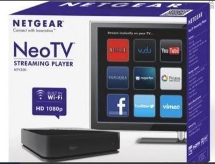 Netgear NeoTV Streaming Player Multi Media Smart Device YouTube FREE SHIPPING