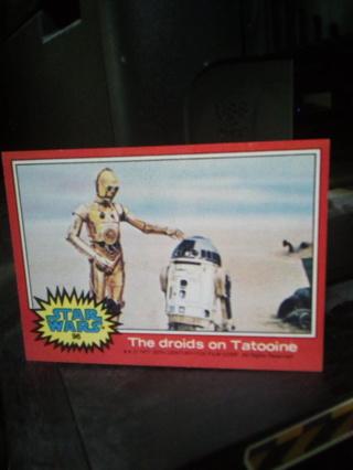 Original 1977 Star Wars card.