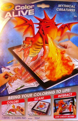 """""""Color Alive..Mythical Creatures"""" Color, Scan and Interact"""