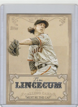 2013 Topps CC-10 Tim Lincecum Calling Card NM-Mint condition