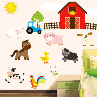 Farm Designed Baby Bedroom Kitchen Livingroom Home Decor Wall Stickers