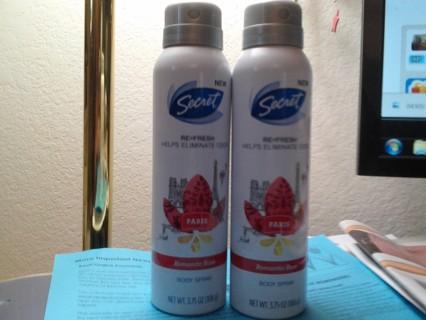 Set Of 2 Secret Body Sprays BN