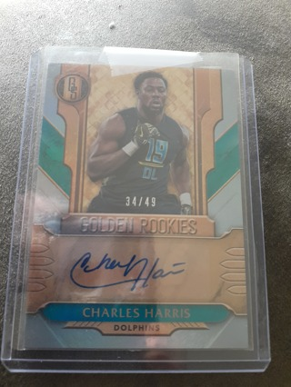 Charles Harris auto rc Dolphins/Falcons