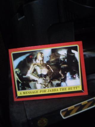 Original Star Wars Return Of The Jedi Card