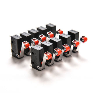 20Pcs Micro Roller Lever Arm Open Close Limit Switch KW12-3 PCB Microswitch