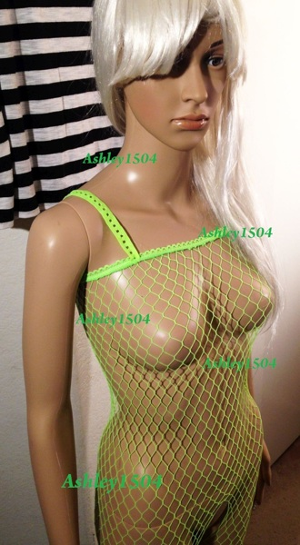 907912c6eb1 FREE  1 NEW Fishnet Lingerie Body Stocking One-Piece Bodycon Green FREE  SHIPPING