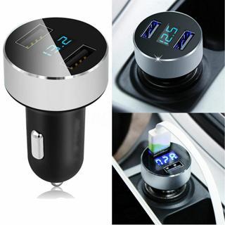 Dual Ports 3.1A USB Cars Cigarete Charger Lighter 12V/24V Digital LED Voltmeter@