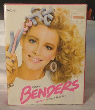 Clairol Benders Heated Flexible Shapers Hot Rollers Curlers 14