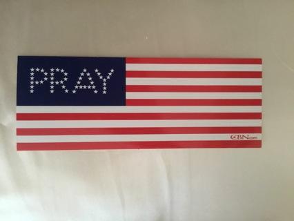 *PRAY* American Flag ~ Sticker/Decal