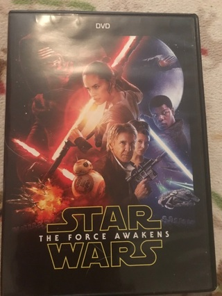 NEW NEVER WATCHED STAR WARS DVD! THE FORCE AWAKENS! FREE SHIPPING! NEW OUT OF PLASTIC