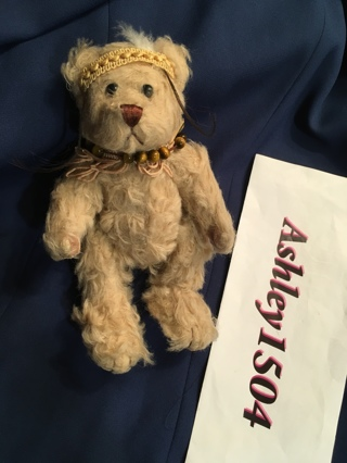 1 Authentic Pickford Bear Brass Button Plush Movable Legs and Arms FREE SHIPPING