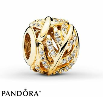 AUTHENTIC PANDORA Charm Light as a Feather 14K Yellow Gold