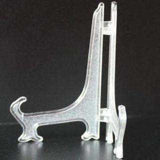 Gem Display Minerals Plates Cards Plastic Easel Badge Golf Post Stand Holder