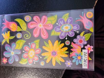 Sticko Brand Fanciful Flower Stickers