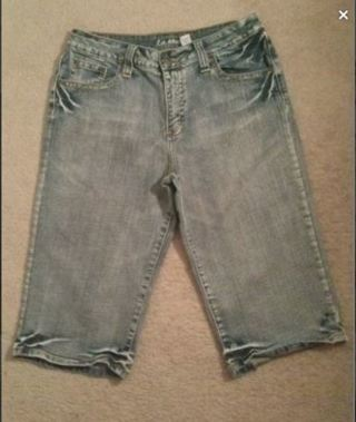 1 Pair Cute Shorts Blue Jean Capri Pants