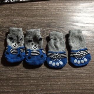 4 small puppy socks
