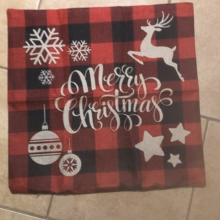 Merry Christmas Pillow Cover .