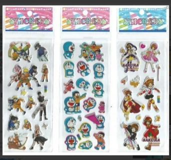 NEW JAPANESE Anime Manga Pop Up BUBBLE Stickers Vibrant Detailed Variety FREE SHIPPING (3)