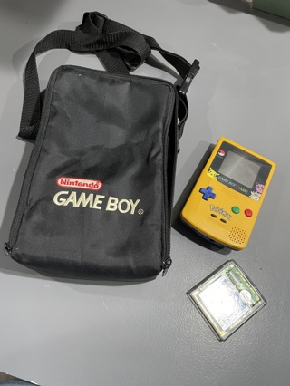 Harder To Find Vintage Pokemon Game Boy Color Console Plus Case and 1 Game