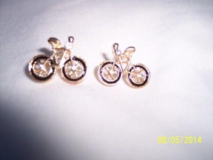 post earrings: black bicycle