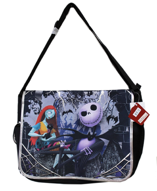 NEW Disney Tim Burton's the Nightmare Before Christmas Messenger Bag
