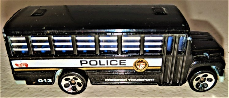 "1988 Hot Wheels metal Police prisoner transporter - 3"" long - Made in Thailand"