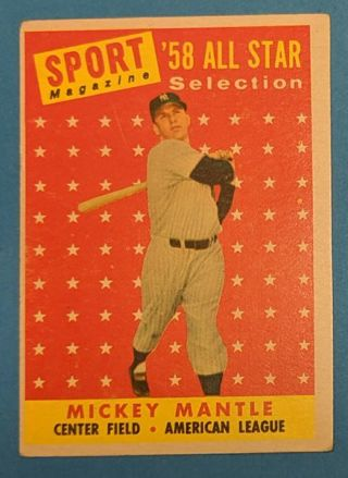 1958 MICKEY MANTLE ALL-STAR