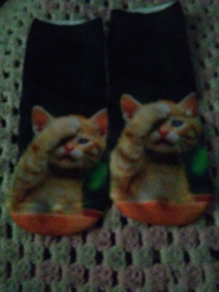 3D new cat ankle socks free shipping
