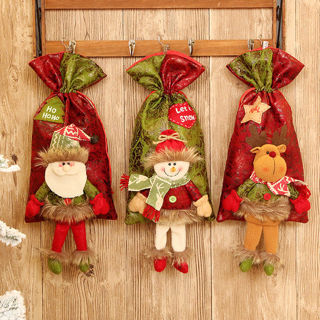Christmas Santa Snowman Gift Candy Bag Apple Storage Bags Xmas Gift Decor
