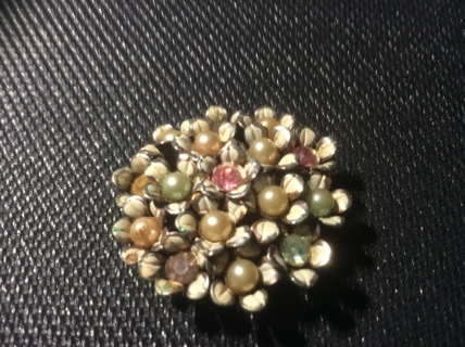 Beautiful ,Vintage, Costume Pin Back Jewelry Pin Brooch: You Pay Postage