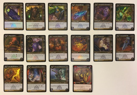 World of Warcraft Naxxramas Trading Card Game Treasure Pack with 16 Cards