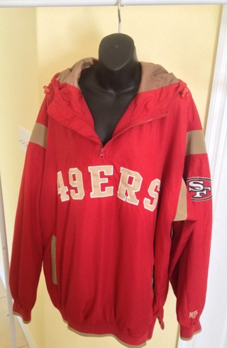 huge selection of 990a9 e0a20 Free: Authentic NFL Brand San Francisco 49ers Windbreaker ...
