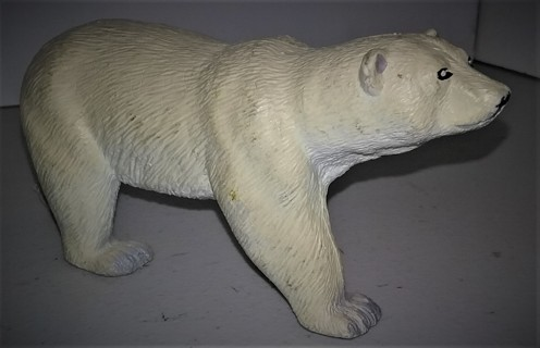 "POLAR BEAR (Ursis maritimus) made in  China for K&N Int. - 5 1/2"" long x 1 1/2"" wide - 9 oz."
